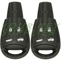 2 New Keyless Remote Key Replacement for Saab LTQSAAM433TX with Insert Blade