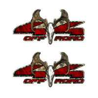 4X4 BUCK SKULL OFF ROAD Truck Camo Tall Grass Decal Sticker Emblem 2 pack a009BU