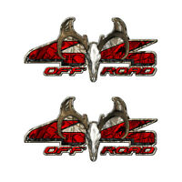 4X4 BUCK OFF ROAD Truck Camo Camouflage Decal Emblem (2 pack) FORD DODGE  a006BU
