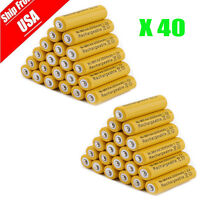 40x AA 3000mAh 2A 1.2 V Ni-MH Yellow Rechargeable Battery Cell for MP3 RC Toys G