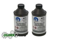 TWO 12OZ CHRYSLER JEEP DODGE RAM BRAKE FLUID DOT 3 BOTTLES MOPAR GENUINE OEM NEW