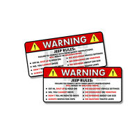Jeep Rules Warning Safety Instructions Funny Adhesive Sticker Decal 2 PACK 5