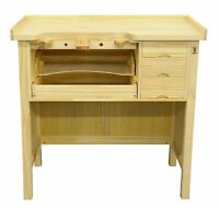 Jewelry Bench Solid Wood Workbench with Drawers Jewelers Bench Arts and Crafts