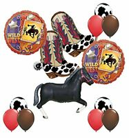 Wild West Western Party Supplies Cowboy Boots and Black Horse