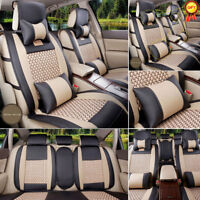 US PU Leather Seat Covers For Lexus RX350 IS250 300C Front+Rear+Pillows Full Set