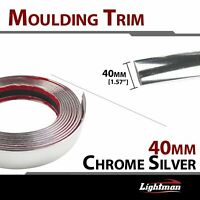 Moulding Trim Strip Silver Car Exterior Body Side Self Adhesive Guard 40mm 240