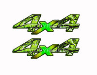 4X4 Zombie Bile Camo Truck Bed Decals Camouflage Green and Black   AMK001ZBNOR