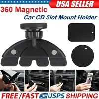 360 Magnetic Car Dash CD Slot Holder Mount Stand For iPhone X Cell Phone Samsung