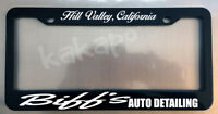 Biff's Auto Detailing Tannen Black License Plate Frame Back To The Future Fans