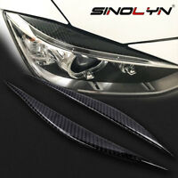Carbon Fiber Headlight Eyebrows Eye Lid Sticker For BMW 3 Series F30 Accessories