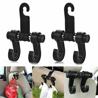 Universal Fit Car Seat Back Headrest Dual Hook Holder Plastic Hanger Organizer
