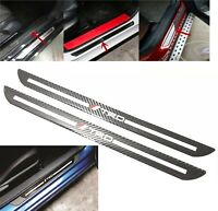 2Pcs TRD Carbon Car Door Scuff Sill Cover Plates Panel Step Protector Sticker
