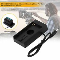 BMCC BMPCC Battery Adapter Mounting Plate For Sony BP-U60 With 1/4\