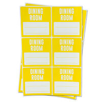 DINING ROOM Blank Lines Stickers for Memo Home Moving Box Supply Labels (3