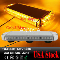 40 LED Emergency Strobe Light Bar For Car Plow Tow Truck Roof Top oval  Amber US