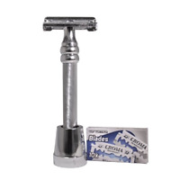The Nobel Double Edge Safety Razor by Luxury Barber best wet shaving starter kit