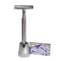 The Klassiker Double Edge Safety Razor by Luxury Barber best wet shaving starter