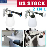 High Pressure Auto Car Air Pulse Cleaning Gun Brush Washer Foam Care Tool Kit