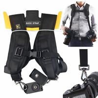 Quick Rapid Dual Double Camera Strap Neck Sling Belt Shoulder DSLR