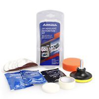 Pro Car Headlight Lens Restoration Repair Kit Polishing Cleaner Cleaning Tool US