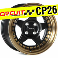 Circuit Performance CP26 15x8 4-100 +25 Flat Black Bronze Lip Wheels (SET OF 4)