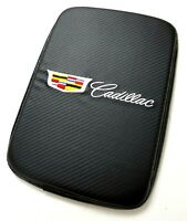 BRAND NEW CADILLAC Carbon Fiber Car Center Console Armrest Cushion Pad Cover