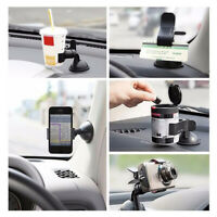 360° Rotating Car Accessories Phone Windshield Mount GPS Holder Black Universal
