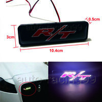 R/T Logo LED Light Car Front Grille Badge Illuminated Decal Sticker For Dodge