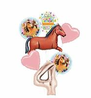 Mayflower Products Spirit Riding Free Party Supplies 4th Birthday Brown Horse