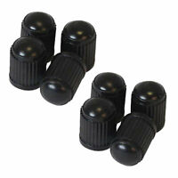 8X CAPS (black) Plastic Tire Valves Air Dust Cover Stem Caps for Wheel Car SUV