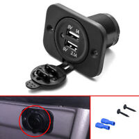 3.1A Dual USB Port Charger Socket Outlet 12V LED Accessories for Motorcycle Car