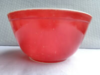 VINTAGE PYREX 402 #15 PRIMARY RED NESTING MIXING BOWL