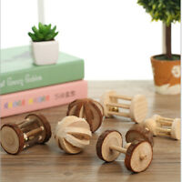 Small Hamster Wooden Chew Toys Rabbit Ball Teeth Chews Toy Pets Supplies G