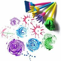 4 Piece Children's 3D Texture Design Kids Paint Brush Set- Kids Arts and Crafts