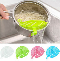 Kitchen Silicone Soup Funnel Home Gadget Tools Water Deflector Cooking Tool Q1E