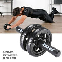 AB Abdominal Roller Power Wheel Workout Exercise Gym Fitness Equipment Knee Pad