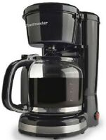 Toastmaster 12 Cup Coffee Maker - Pause & Serve Function - Black - TM-122CM