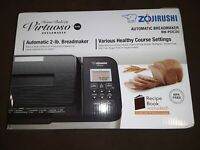 ZOJIRUSHI AUTOMATIC 2 LB BREAD MAKER BB-PDC20 HOME BAKERY VIRTUOSO PLUS
