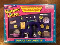NEW in Box 1995 Tyco Kitchen Littles Deluxe Appliance Set with PURPLE on Plate