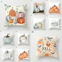 Cute Pumpkin Printed Cushion Cover Pillowslip Pillow Case Throw Home Supplies