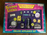 NEW in Box 1995 Tyco Kitchen Littles Deluxe Appliance Set with PINK on Plate
