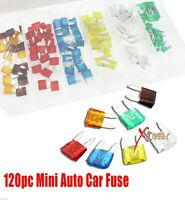 New 120PC Mini Trucks SUV'S Auto Fuses Assorted Color Coded Car Fuse