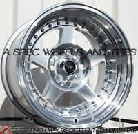 15X8.0 ROTA KYUSHA WHEELS 4X100 SILVER RIMS +0MM AGGRESSIVE FITS CIVIC INTEGRA