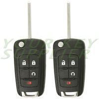 2 New Replacement 4 Button Keyless Remote Flip Key OHT01060512 20873622 20835400