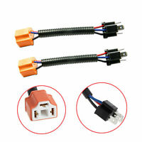 2x H4 9003 Wiring Harness Adpter Sockets Cable Wire for Headlights Fog Lights