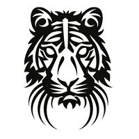 Tiger decal sticker for Car/Truck Window computer wall laptop cat bengal tribal