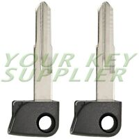 2 New Replacement Insert Blade Key 72147-SJA-305 W/Chip for Acura RL Smart Key