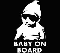 Reflective BABY ON BOARD Safety Decal nighttime visible sticker for Car