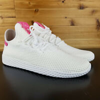 New Men's ADIDAS Originals Pharrell Williams PW Tennis HU - BY8714 - White/Pink