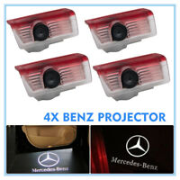 4x Logo LED Door Courtesy Light Ghost Shadow Laser Projector for Mercedes-Benz